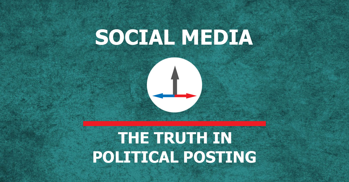 banner image that reads the category of social media and the topic of political posting